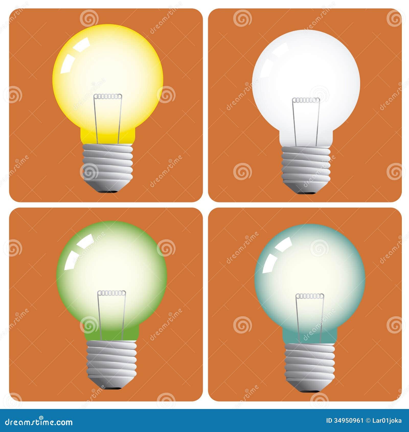 lightbulbs stock vector illustration of green drawing 34950961. Black Bedroom Furniture Sets. Home Design Ideas