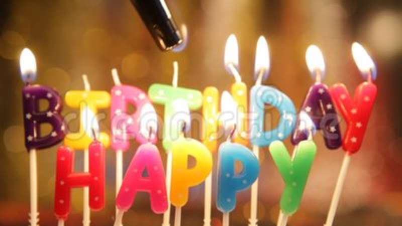 Happy Birthday Candles Stock Video Of Cake