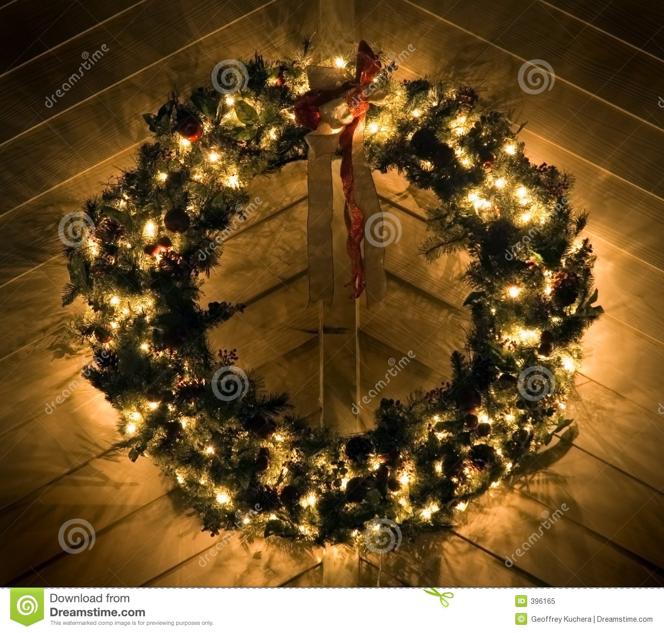 48 Lighted Christmas Wreath