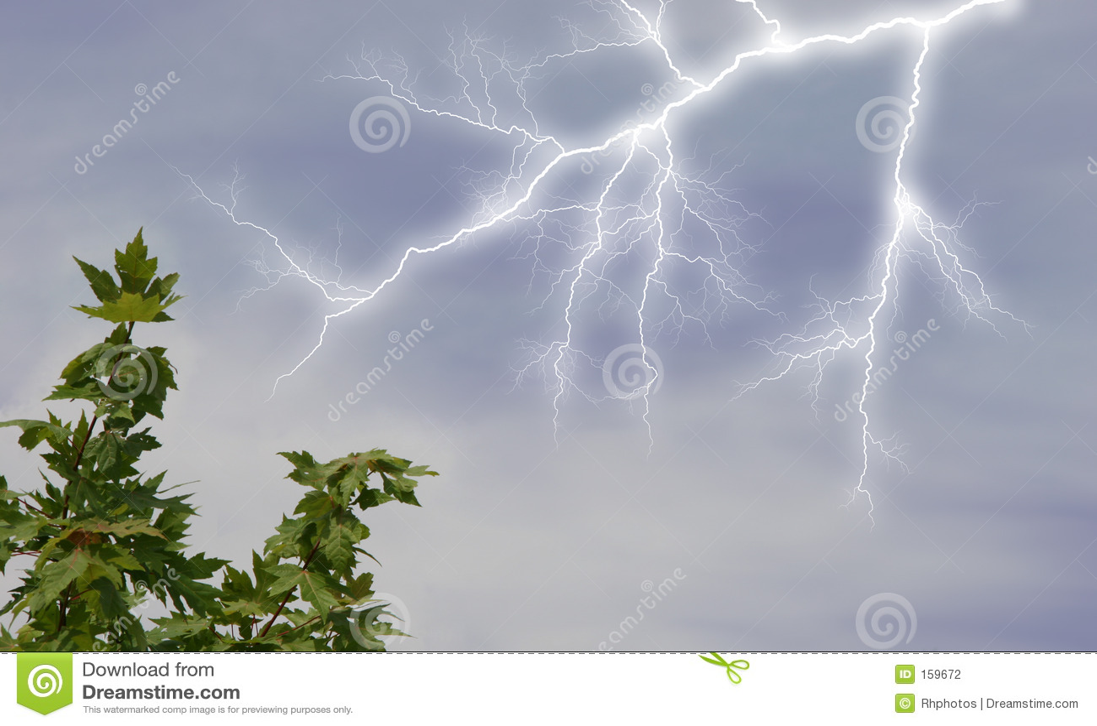 Lightening in Sky