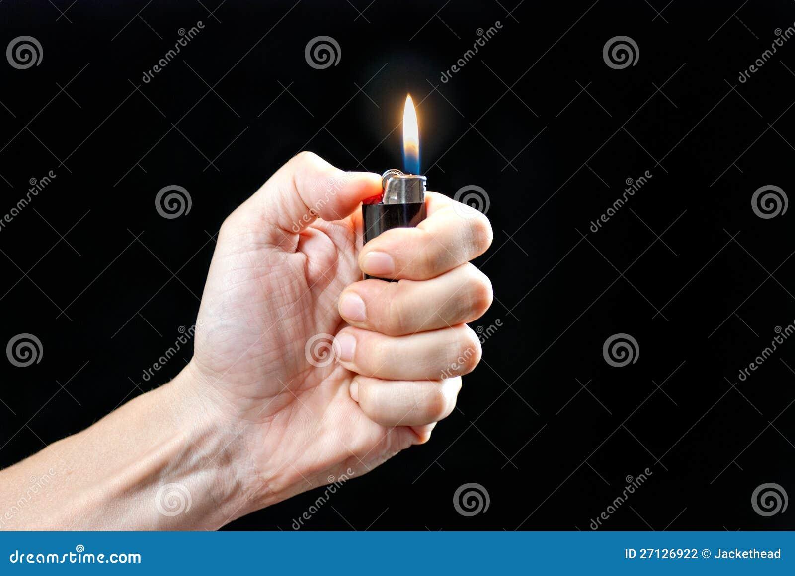 Lighter för handHoldingLit