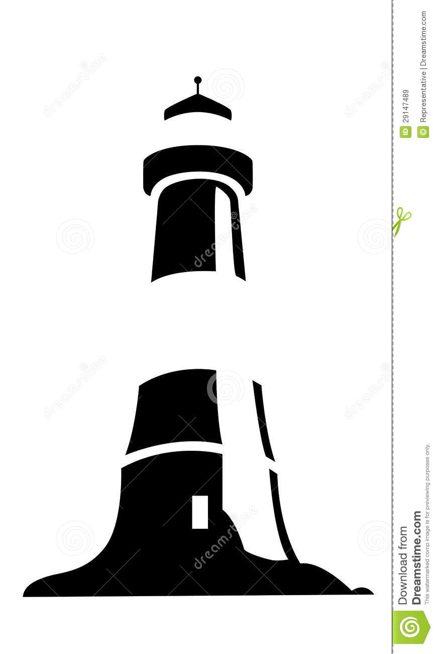 lighthouse stock image image of logotype lighthouse 29147489. Black Bedroom Furniture Sets. Home Design Ideas