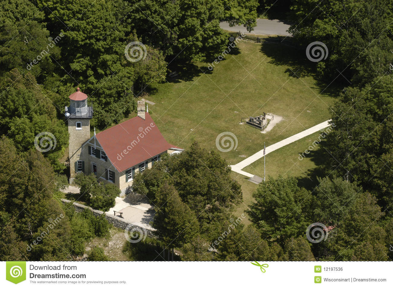 Lighthouse Aerial View