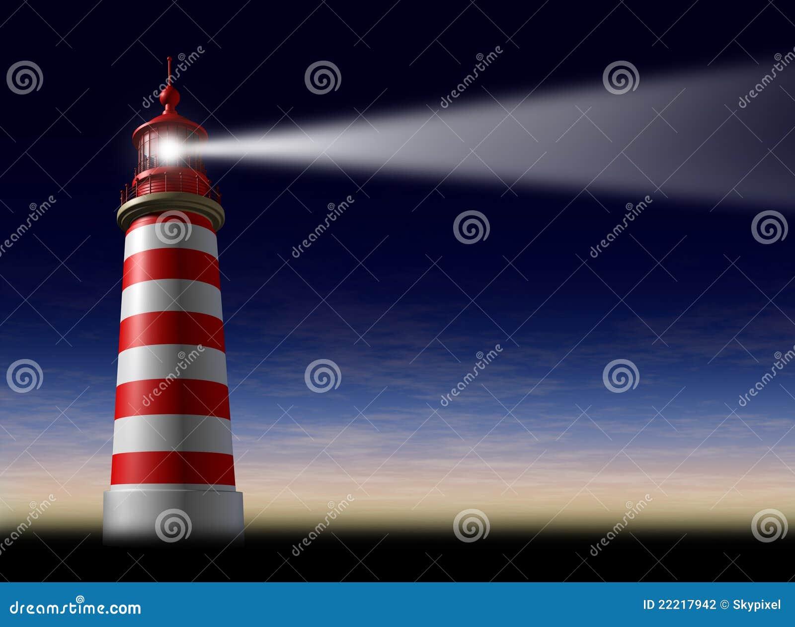 Lighthouse beam of light