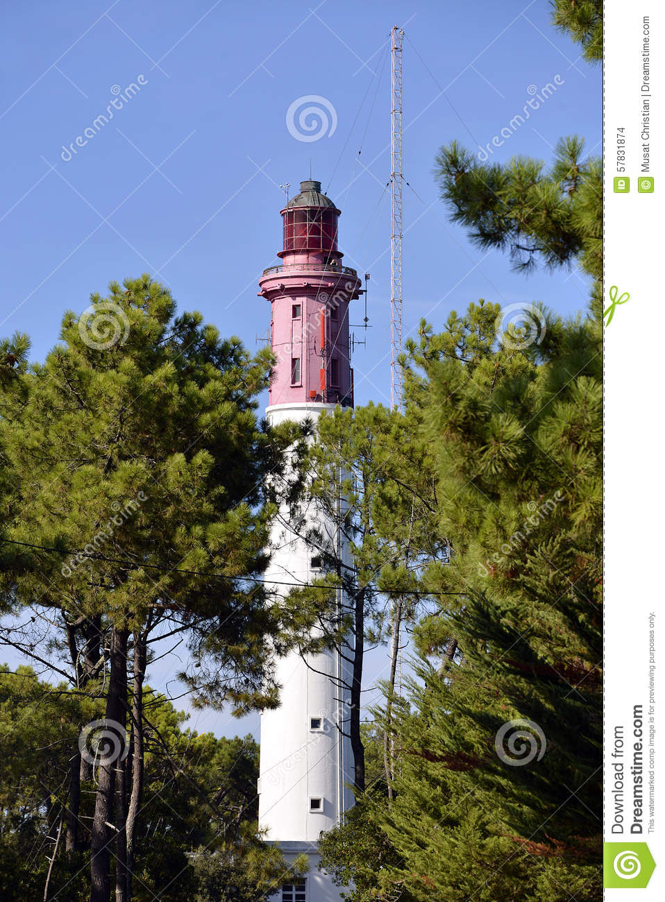 Lighthouse Of Cap-Ferret In France Stock Photo - Image: 57831874