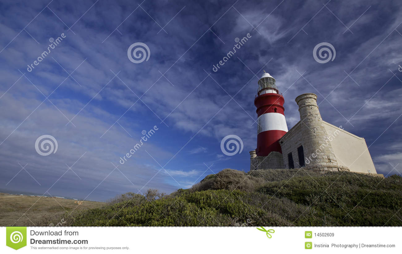 Lighthouse Cape Agulhas in South Africa