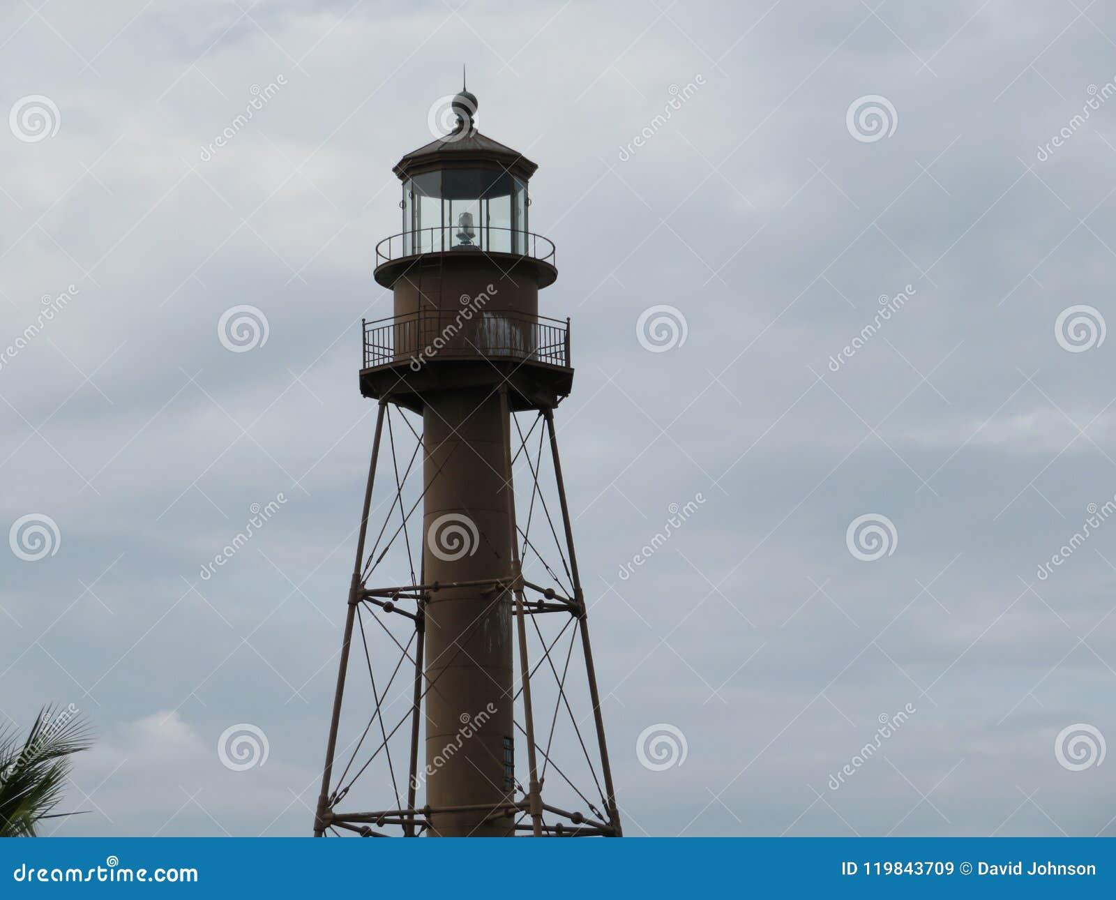 Lighthouse close-up on Sanibel island Florida