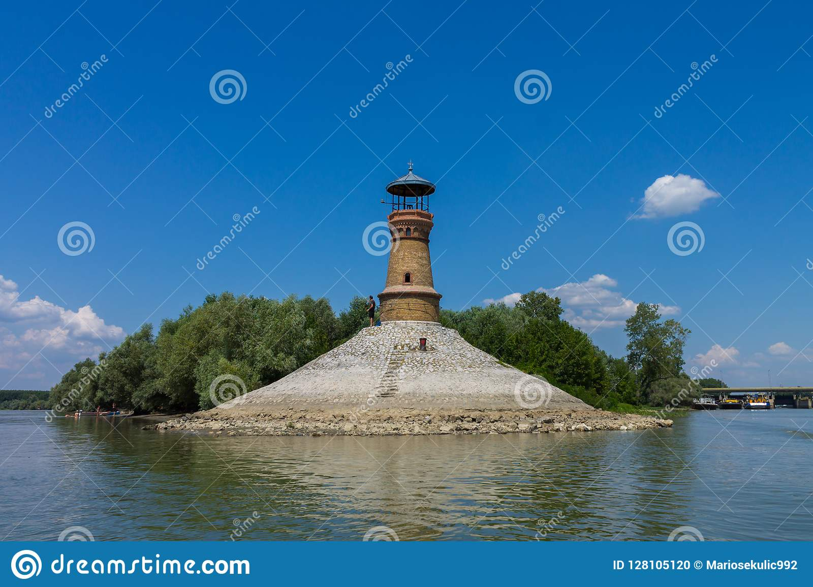 Lighthouse on Dunav river near Belgrade.