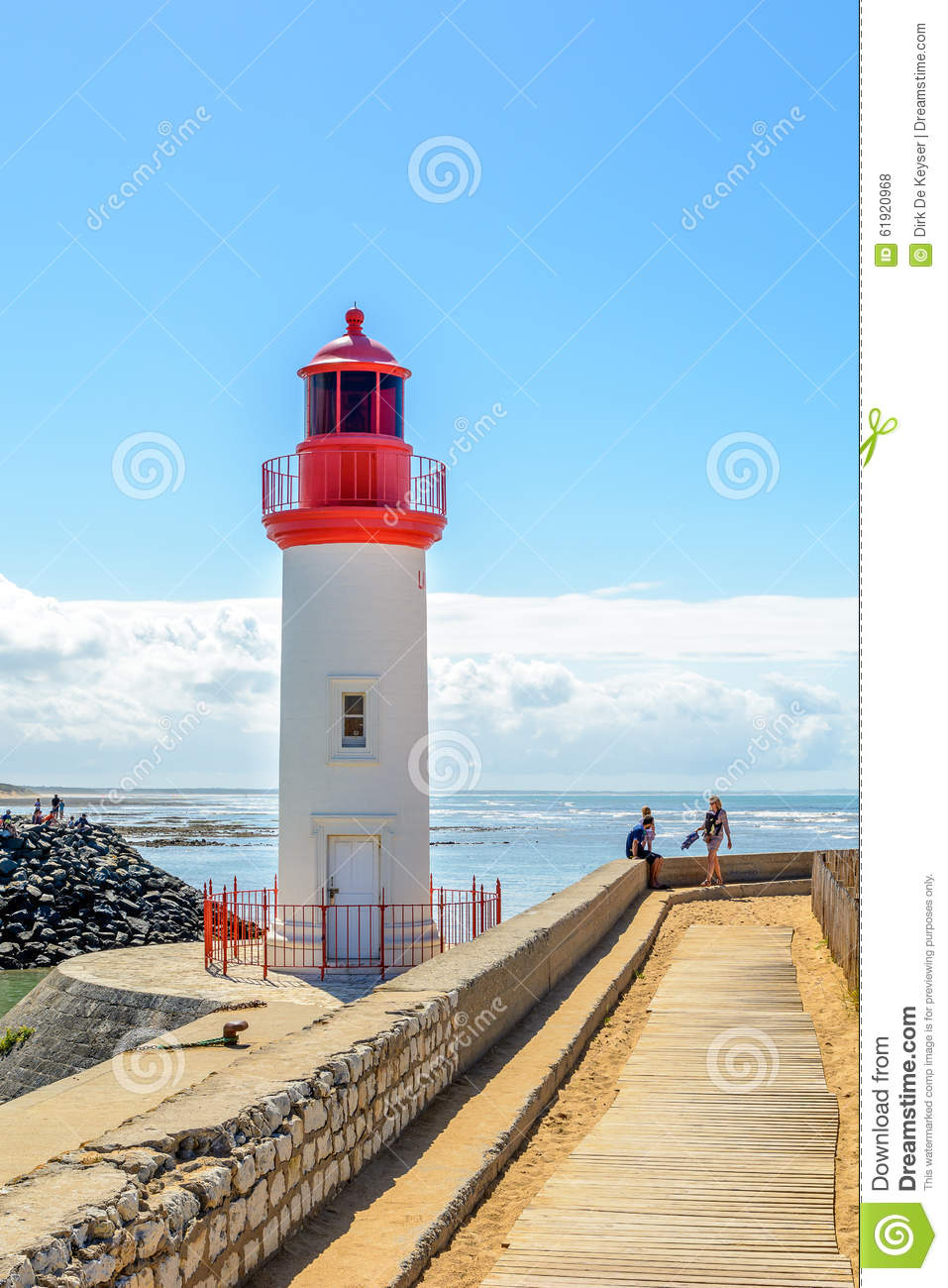 Lighthouse in fishing port La cotiniere, France
