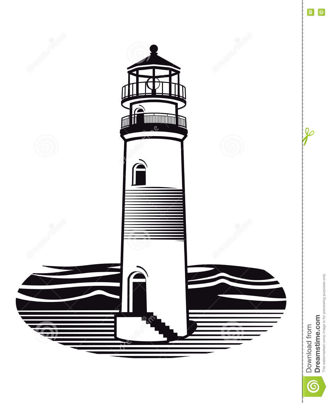 Line Drawing Lighthouse : Lighthouse illustration stock vector image of coastal