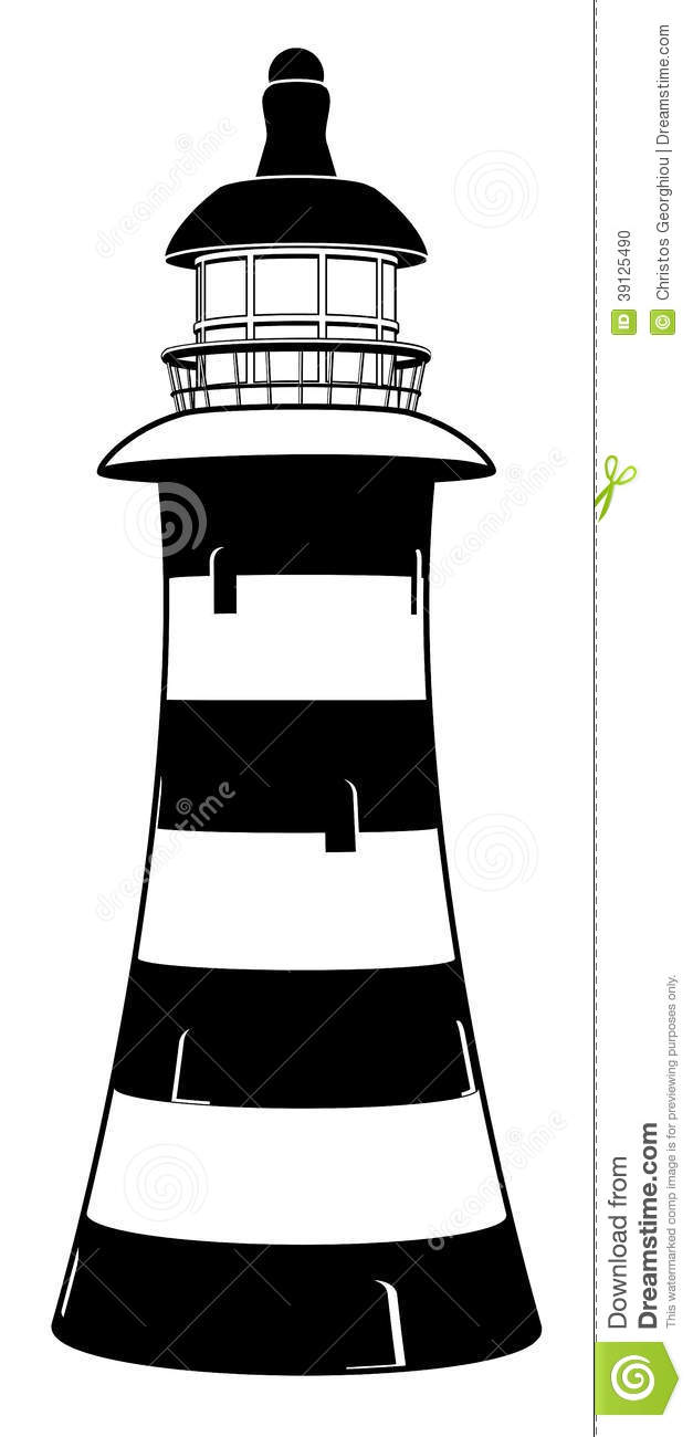 Lighthouse stock vector. Image of illustration, building ...