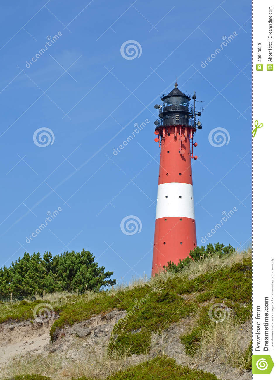 lighthouse on the island sylt in hoernum stock photo image 40923030. Black Bedroom Furniture Sets. Home Design Ideas