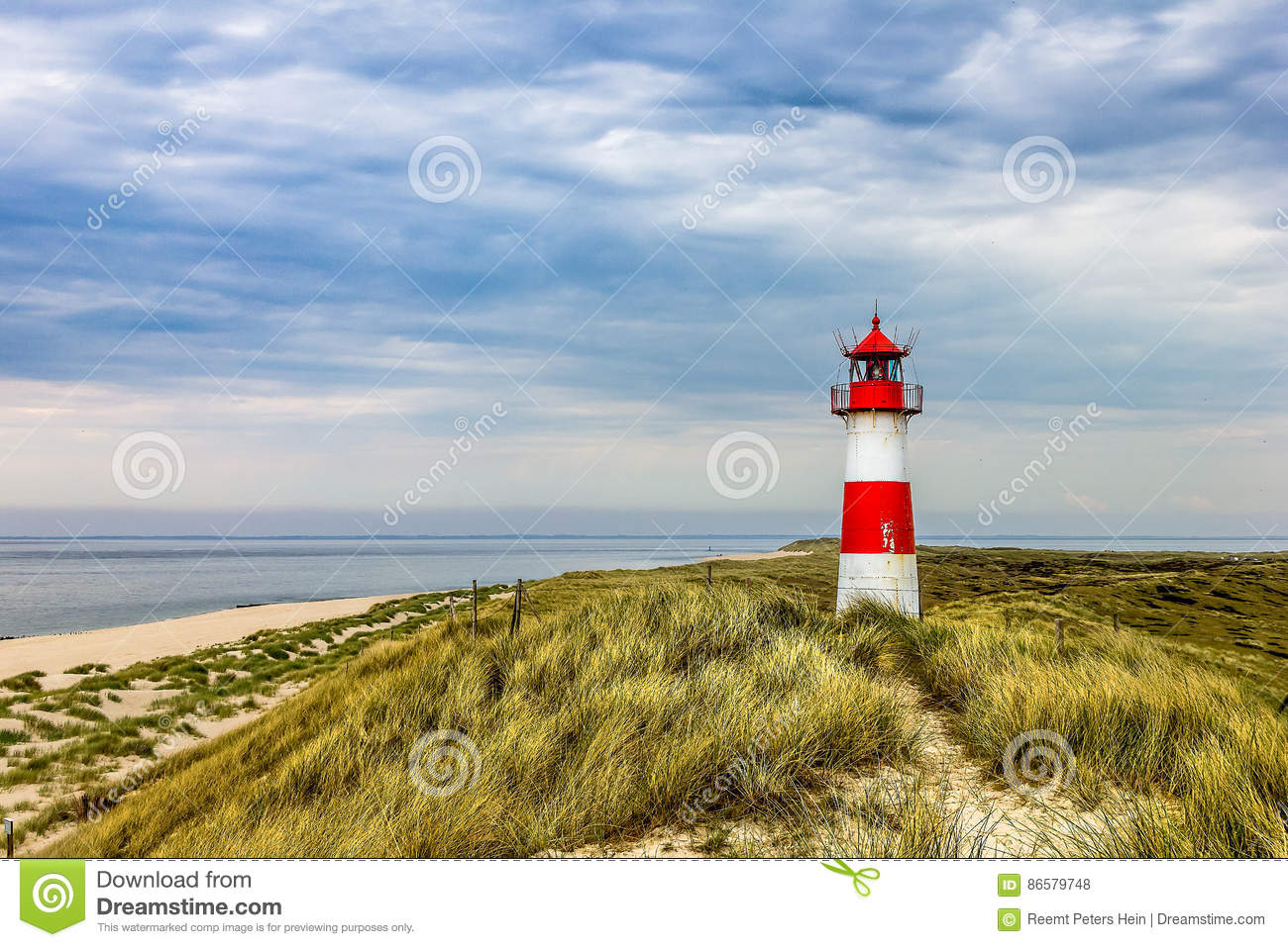 Download Lighthouse List Ost On The Island Sylt Stock Photo - Image of photography, northern: 86579748