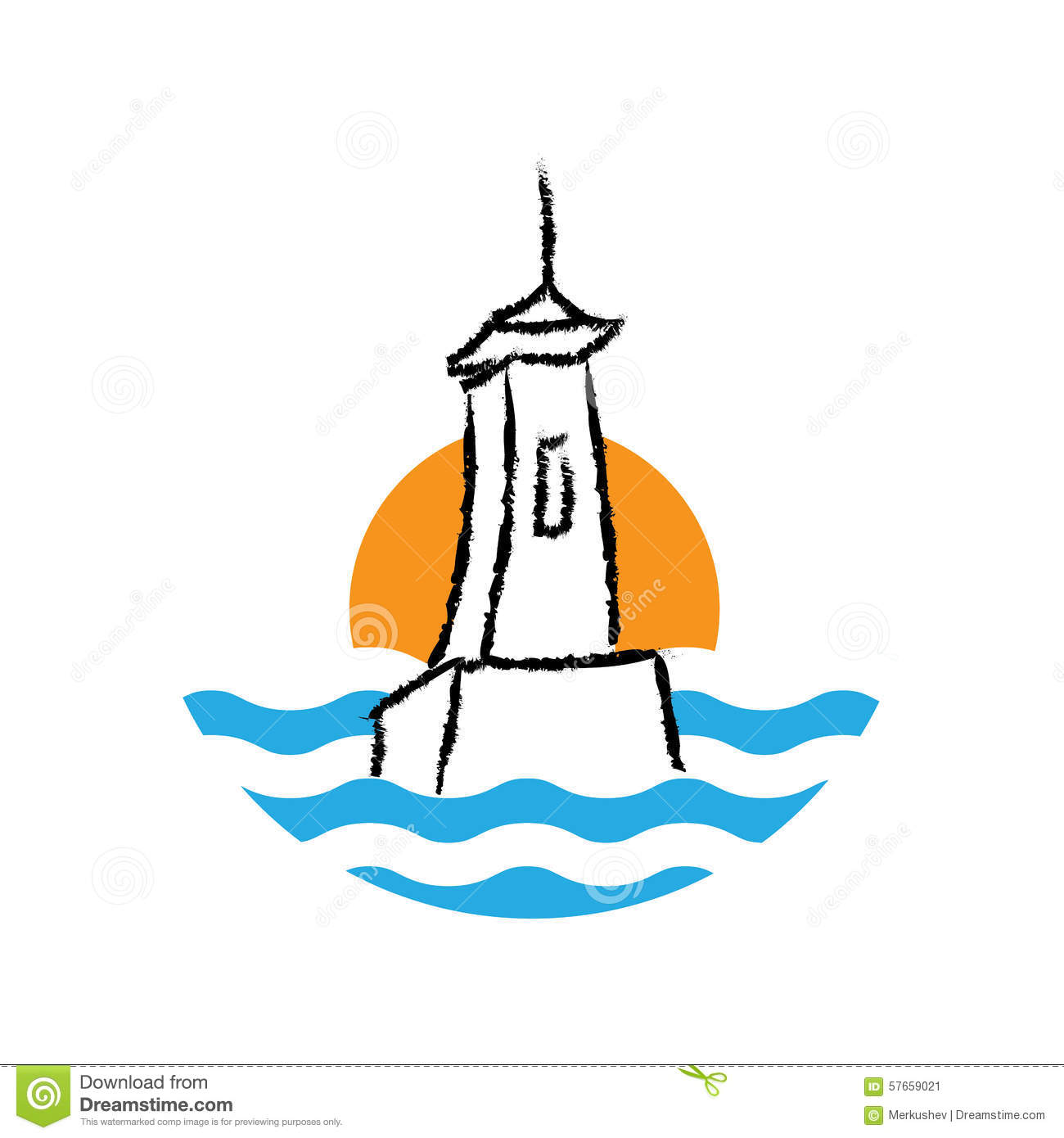 Lighthouse Logo, Vector Stock Vector - Image: 57659021