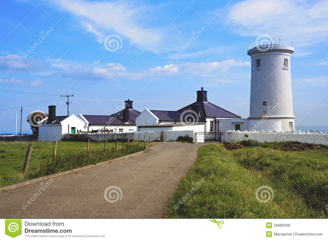 A lighthouse - Monkash, Wales