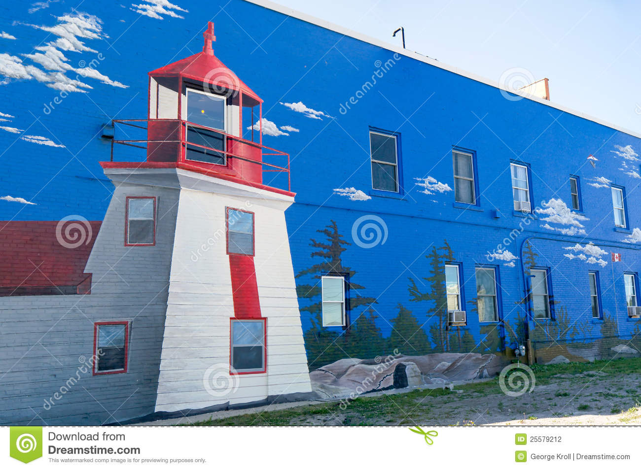 Lighthouse Mural on Wall