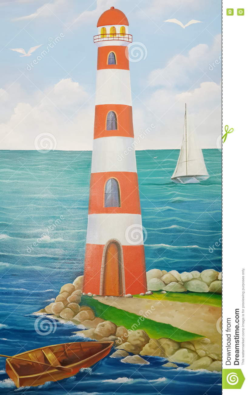 Lighthouse, The painting on the wall