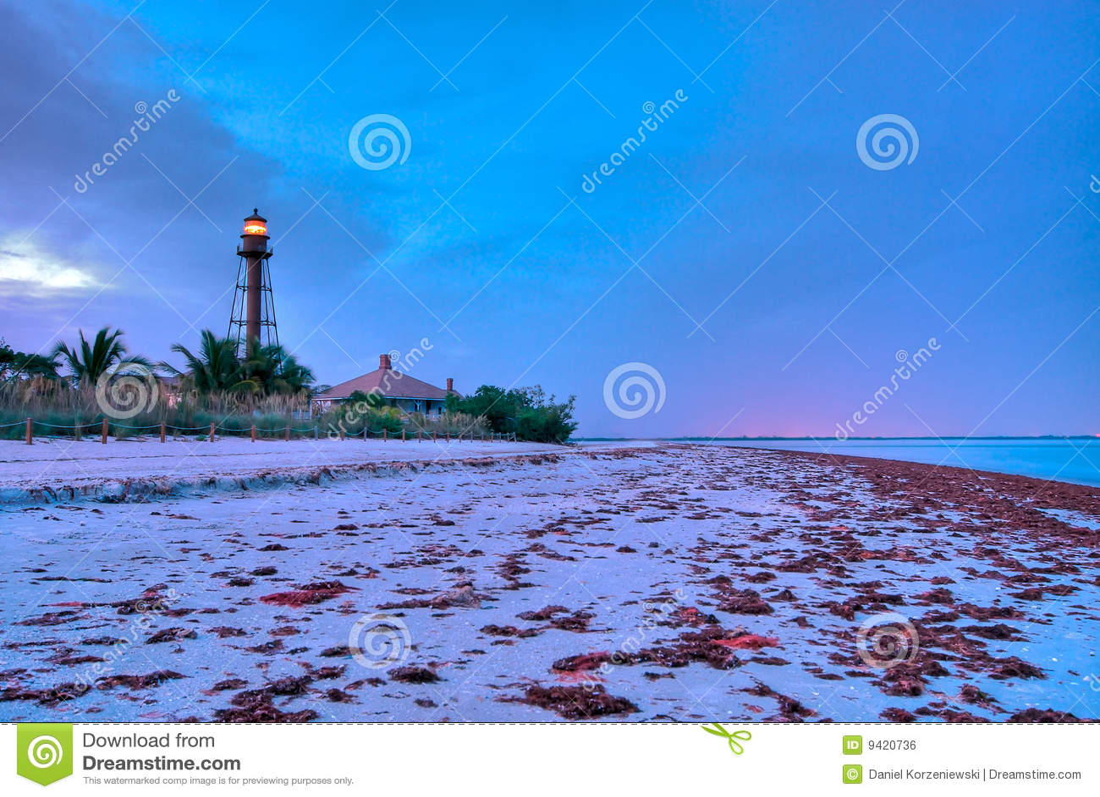 Lighthouse point at dusk