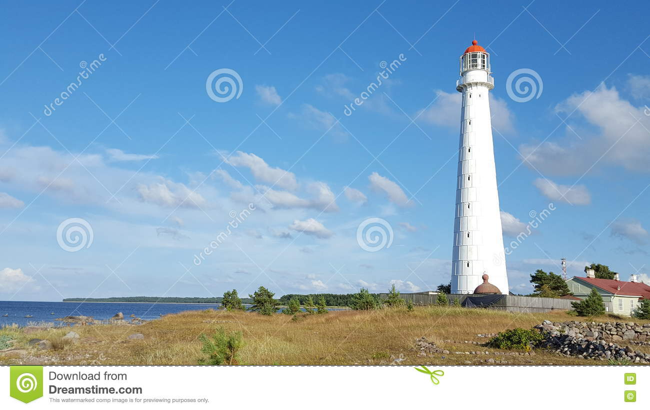 Download Lighthouse On The Sea Shore Stock Image - Image of beacon, europe: 75296801