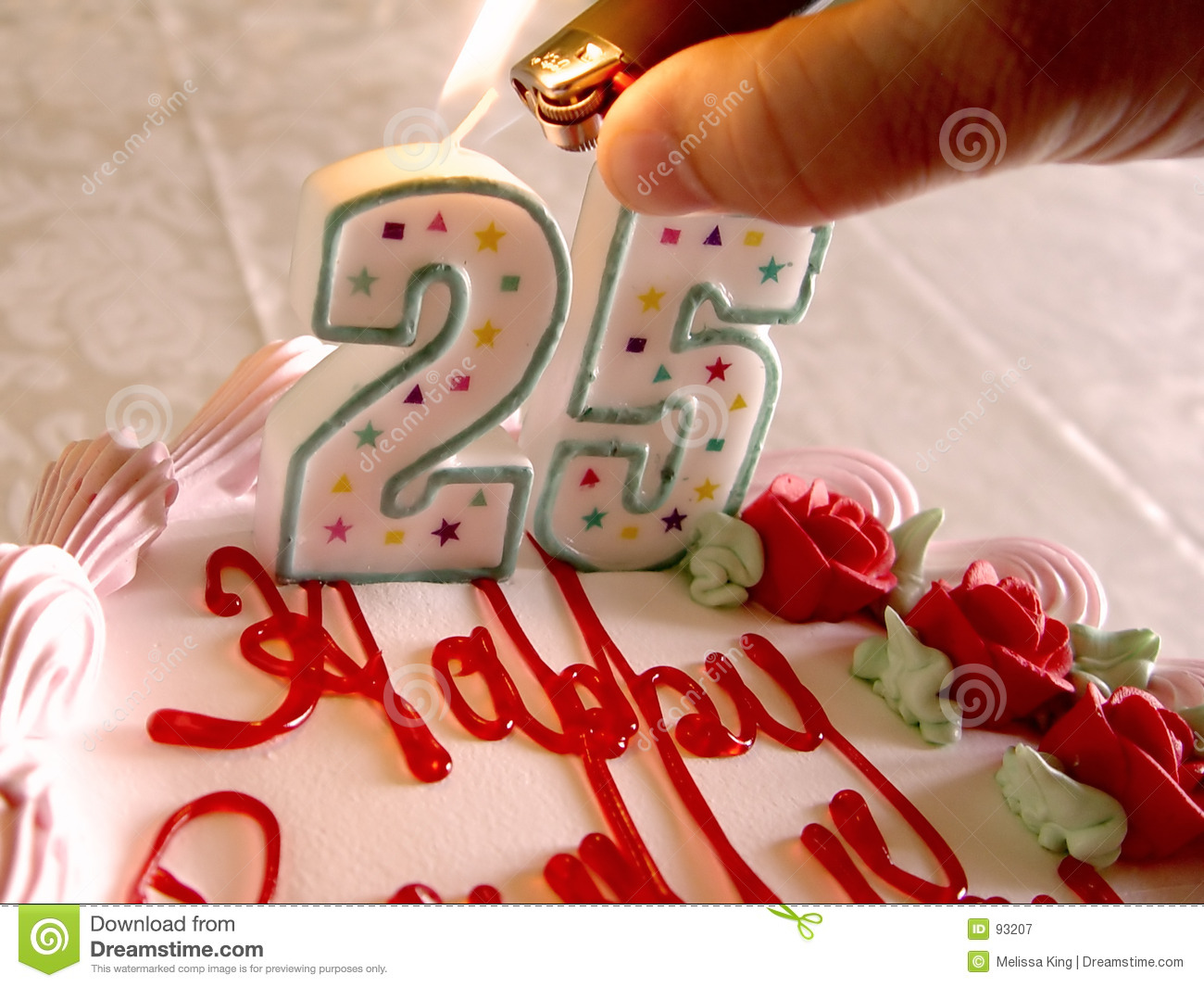 Lighting Birthday Candles For Someone Who Is 25 Years Old