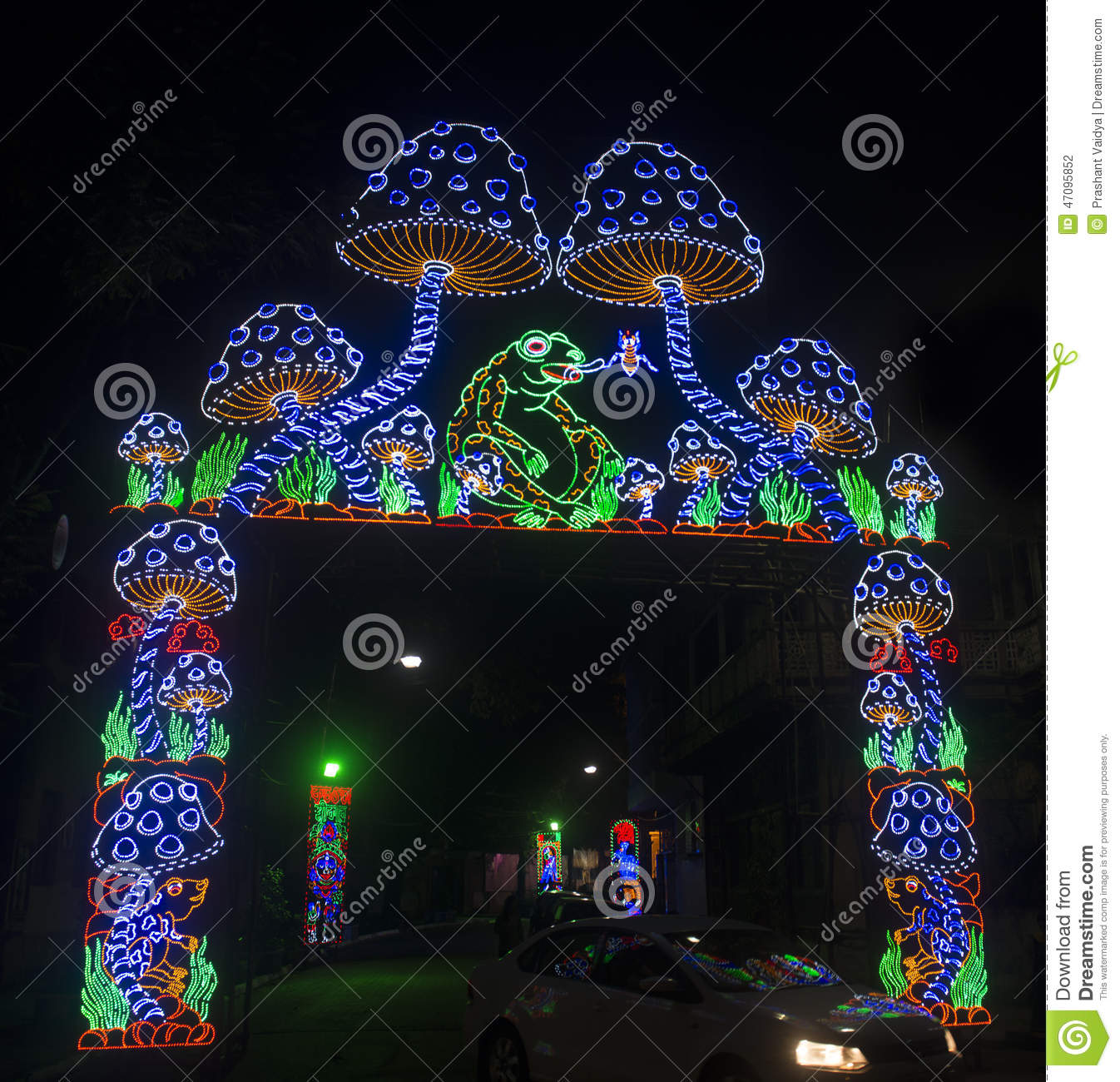 Lighting decoration at durga puja festival editorial photography download lighting decoration at durga puja festival editorial photography image of their lighting altavistaventures Choice Image