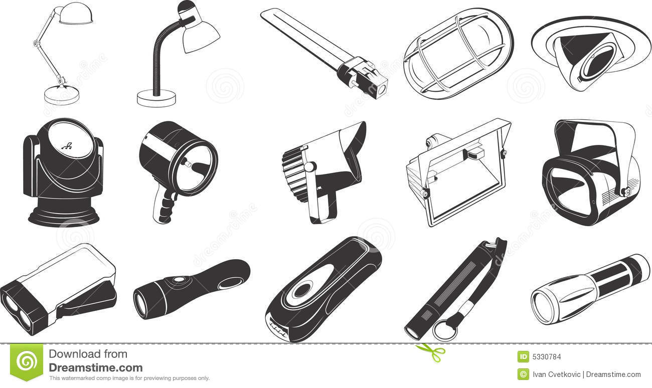 Lighting Equipment Icons Stock Images - Image: 5330784