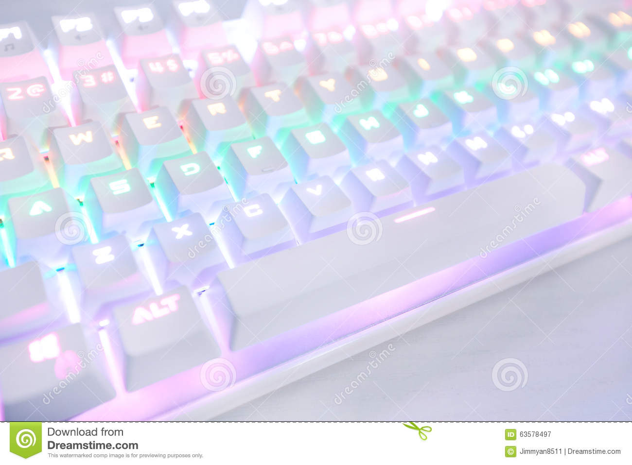 Lighting Keyboard Stock Photo Image 63578497
