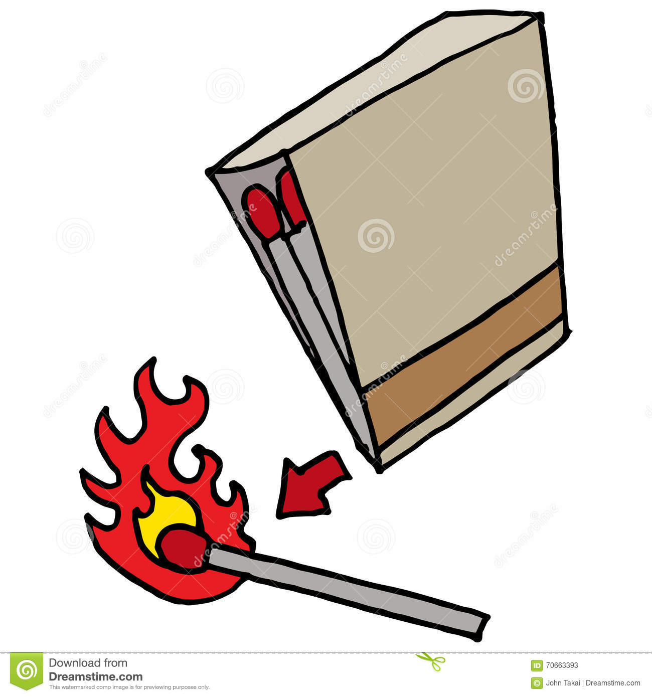 Lighting A Match On A Matchbook Stock Vector - Illustration of ... for Matches Clip Art  156eri