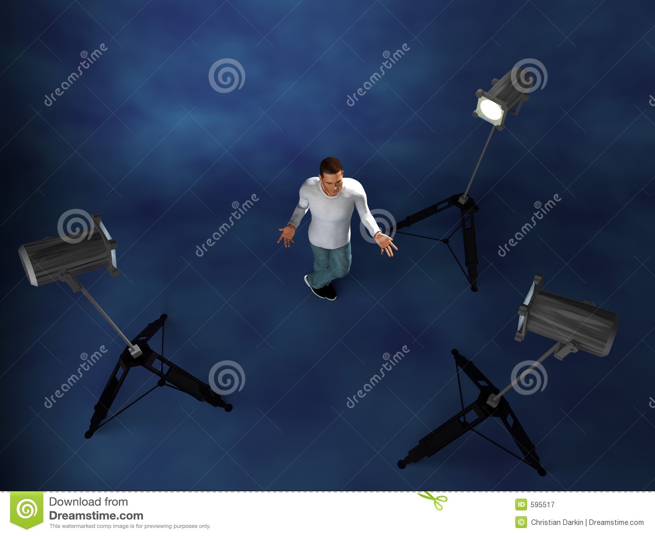 Lighting Setup Studio Stock Illustration Illustration Of Fill 595517