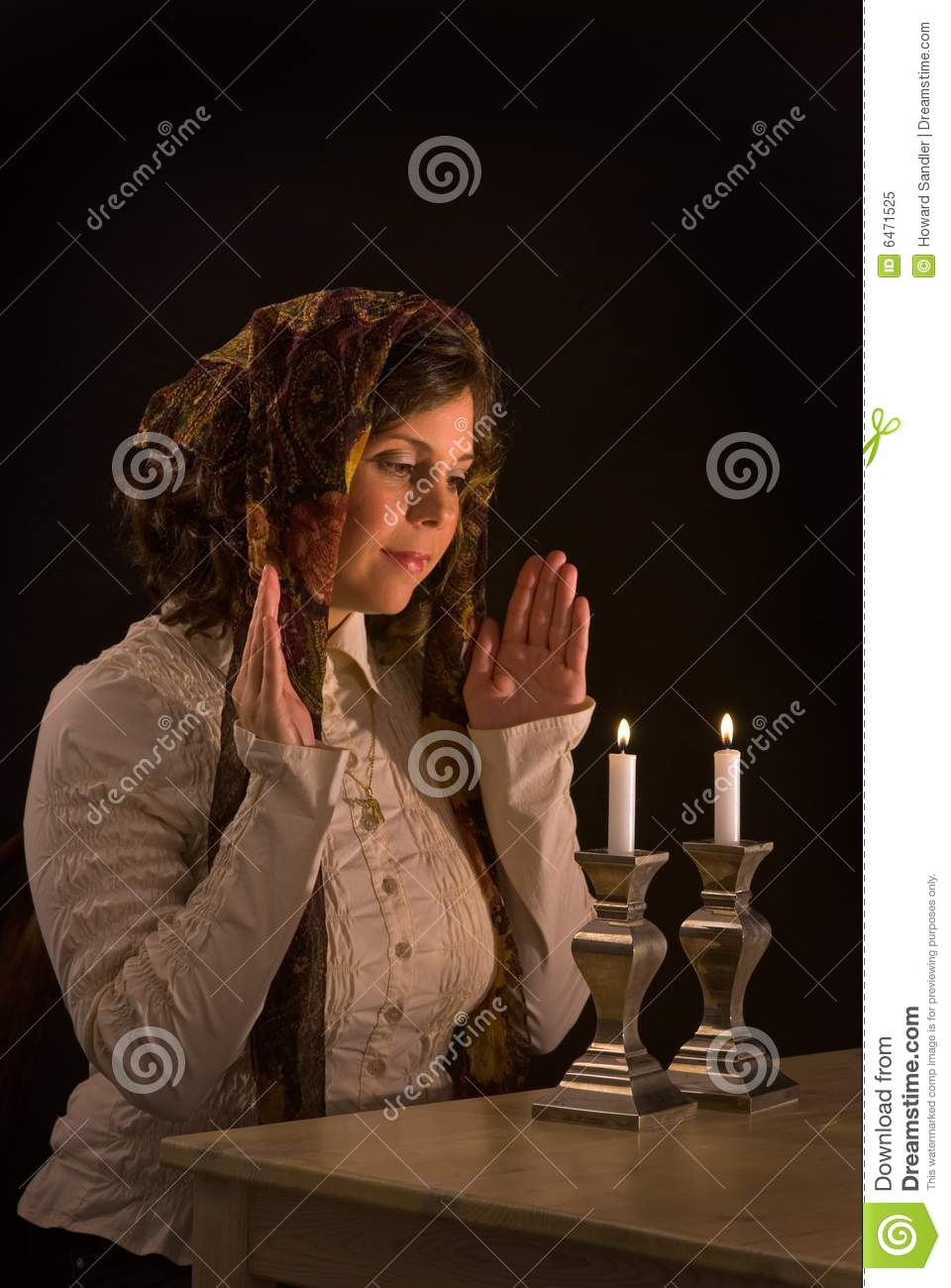 Lighting Shabbat Candles  sc 1 st  Dreamstime.com & Lighting Shabbat Candles stock image. Image of attractive - 6471525