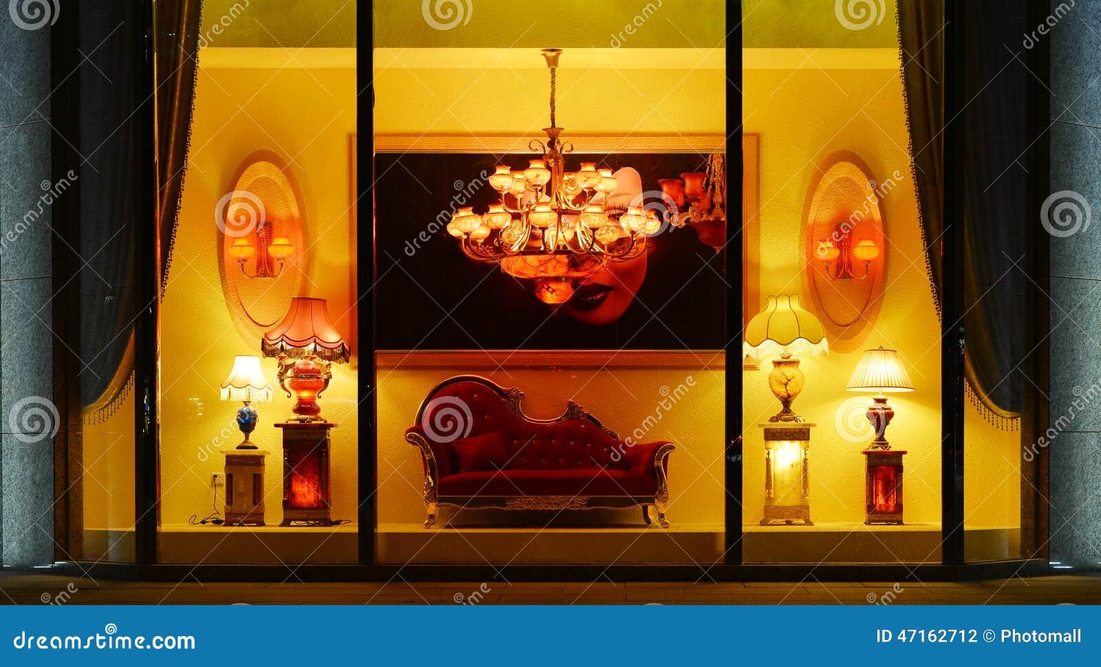 Lighting Shop Window Luxury Marble Chandelier Table Lamp
