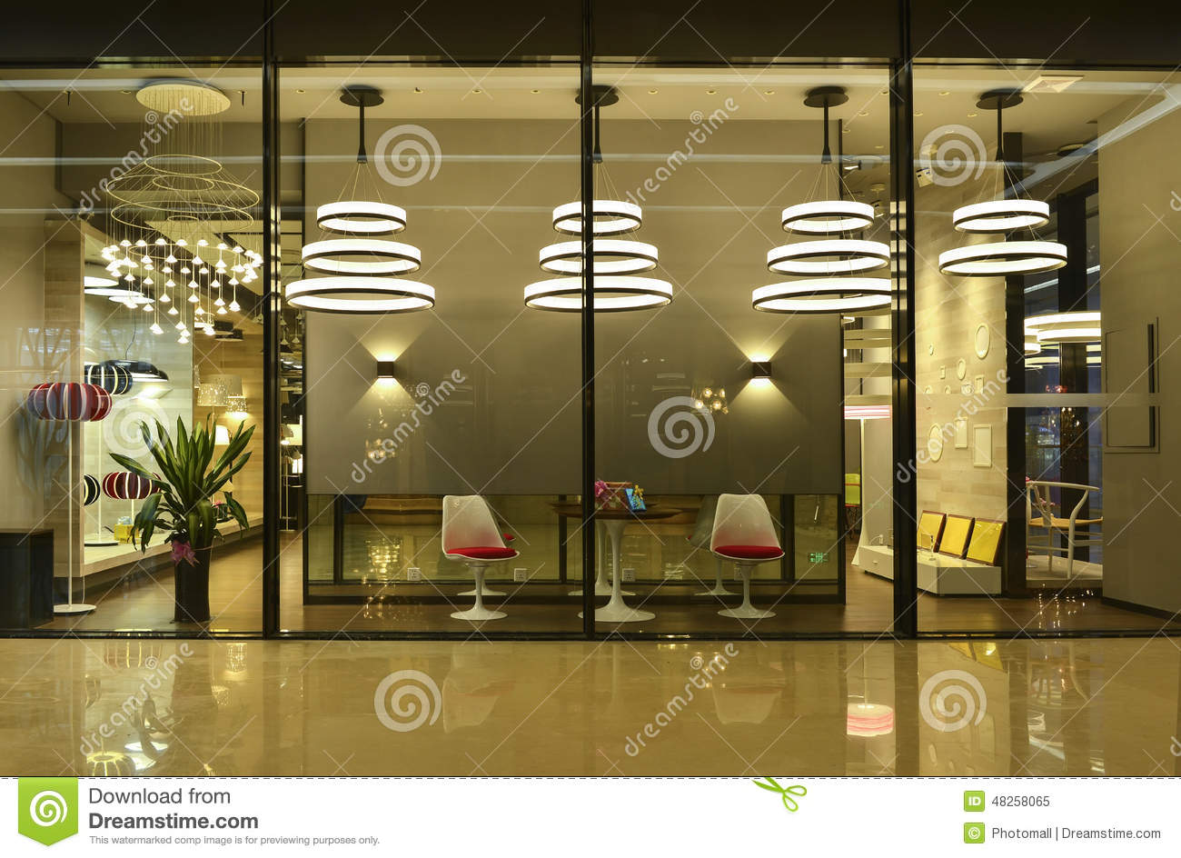 Lighting Shop Window Stock Photo Image 48258065