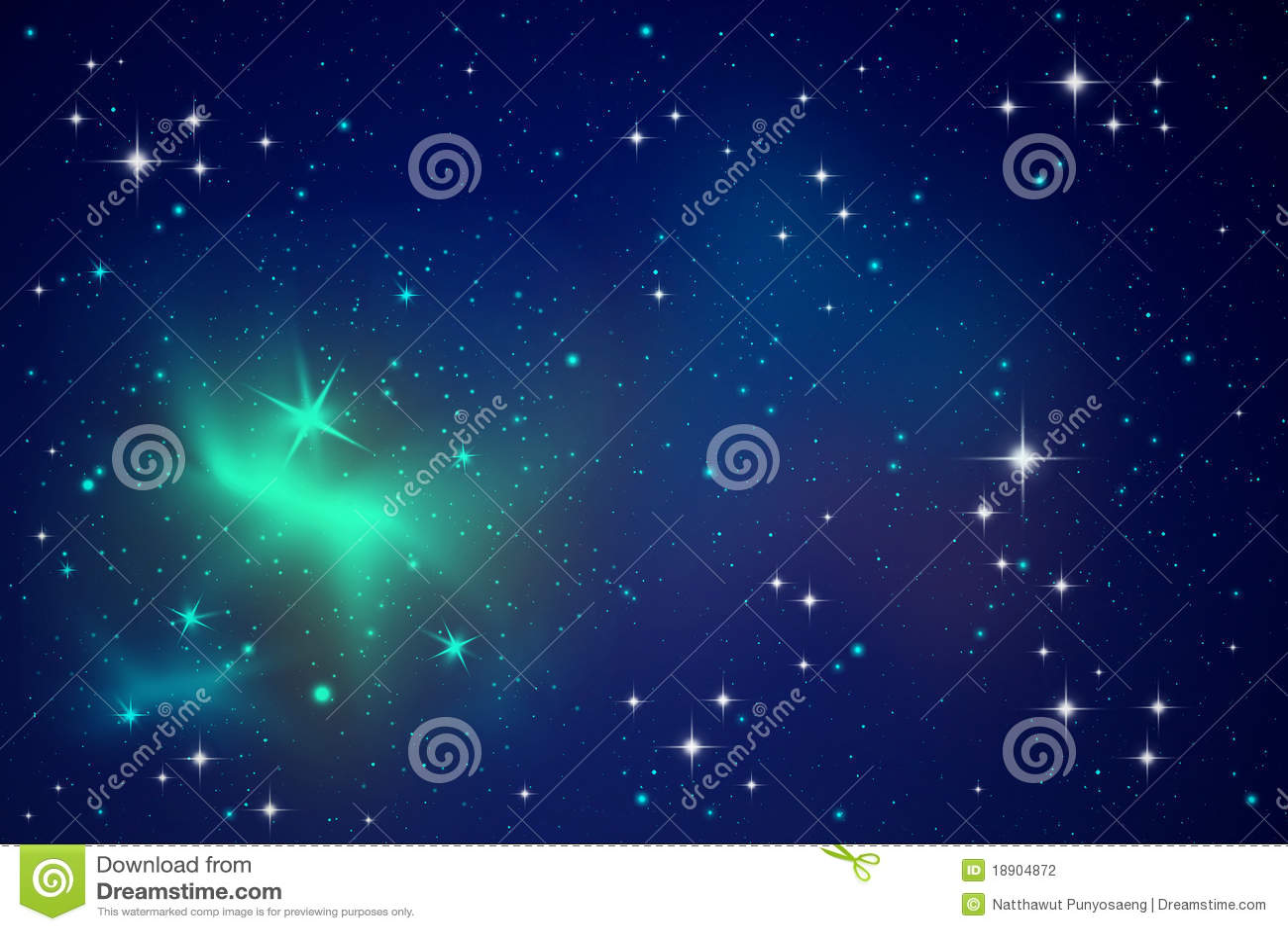 Lighting stars in the night sky
