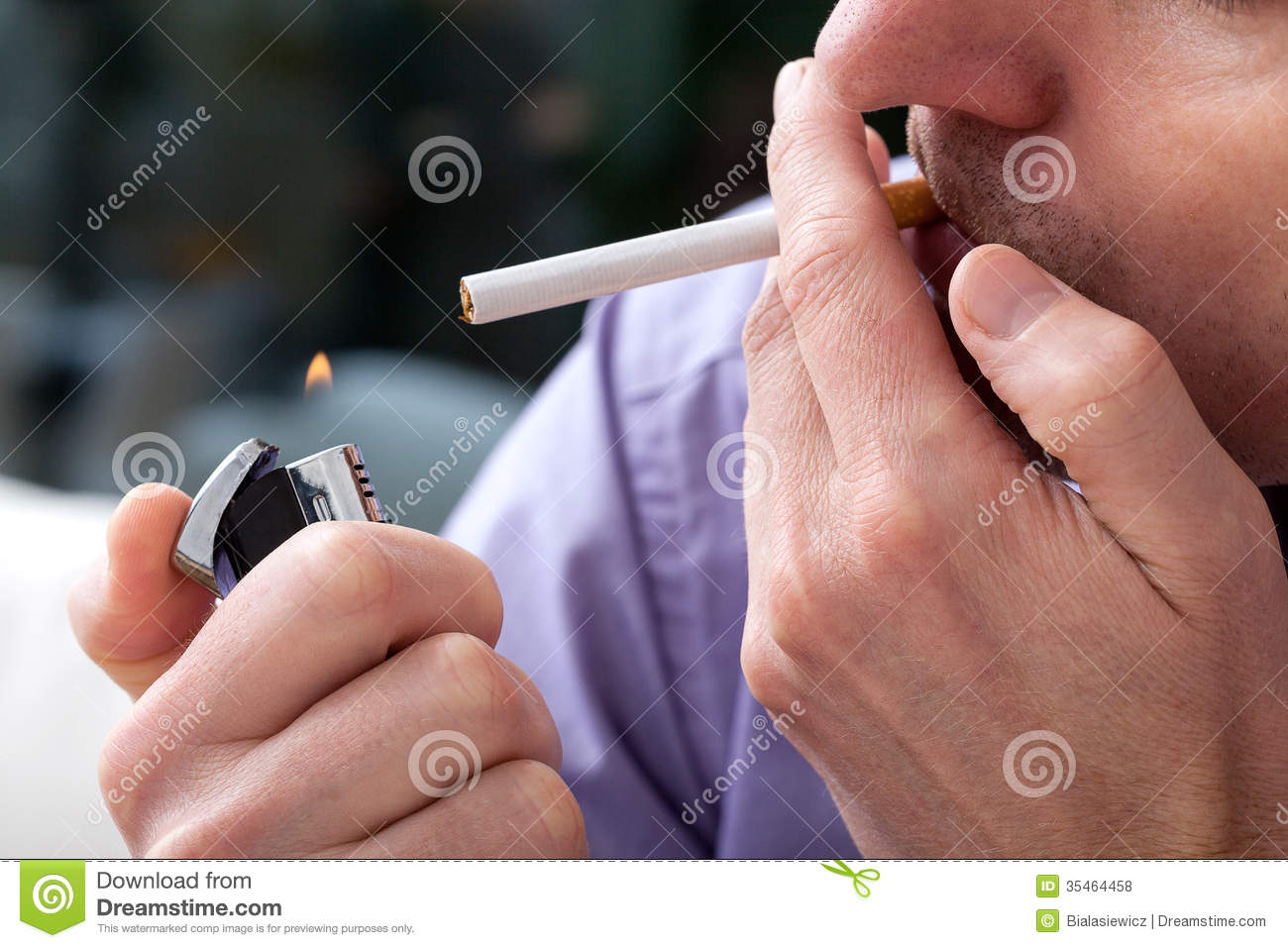 Lighting Up A Cigarette Royalty Free Stock Photos - Image: 35464458