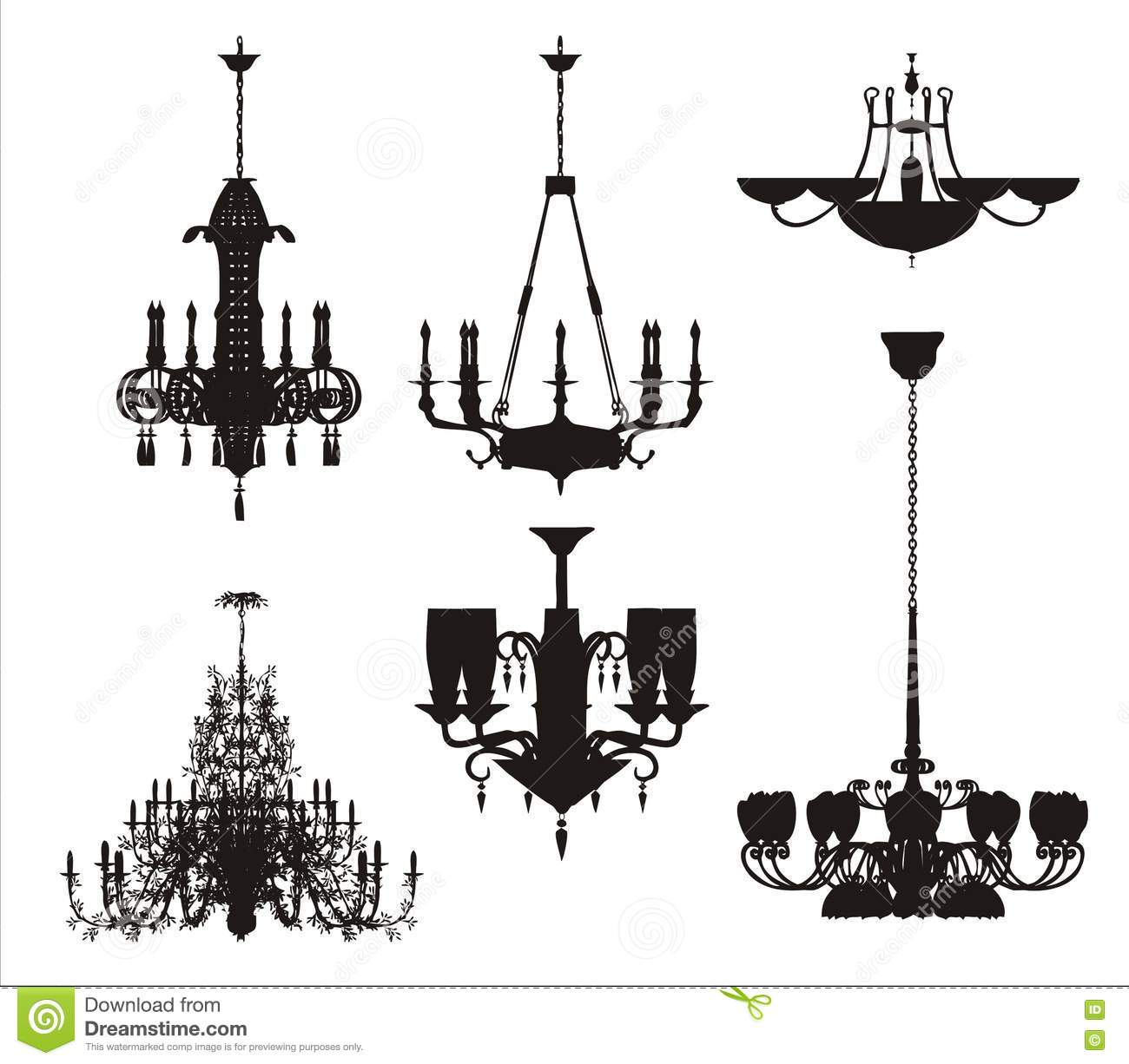 Black Ceiling Lamp Royalty Free Vector Image: Lighting Vector Set Stock Vector. Image Of Black, Cable
