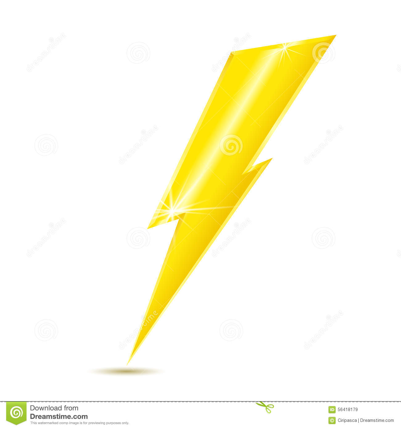 Lightning Bolt Icon Isolated On White Background Stock Vector ... for Vector Lighting Bolt  192sfw