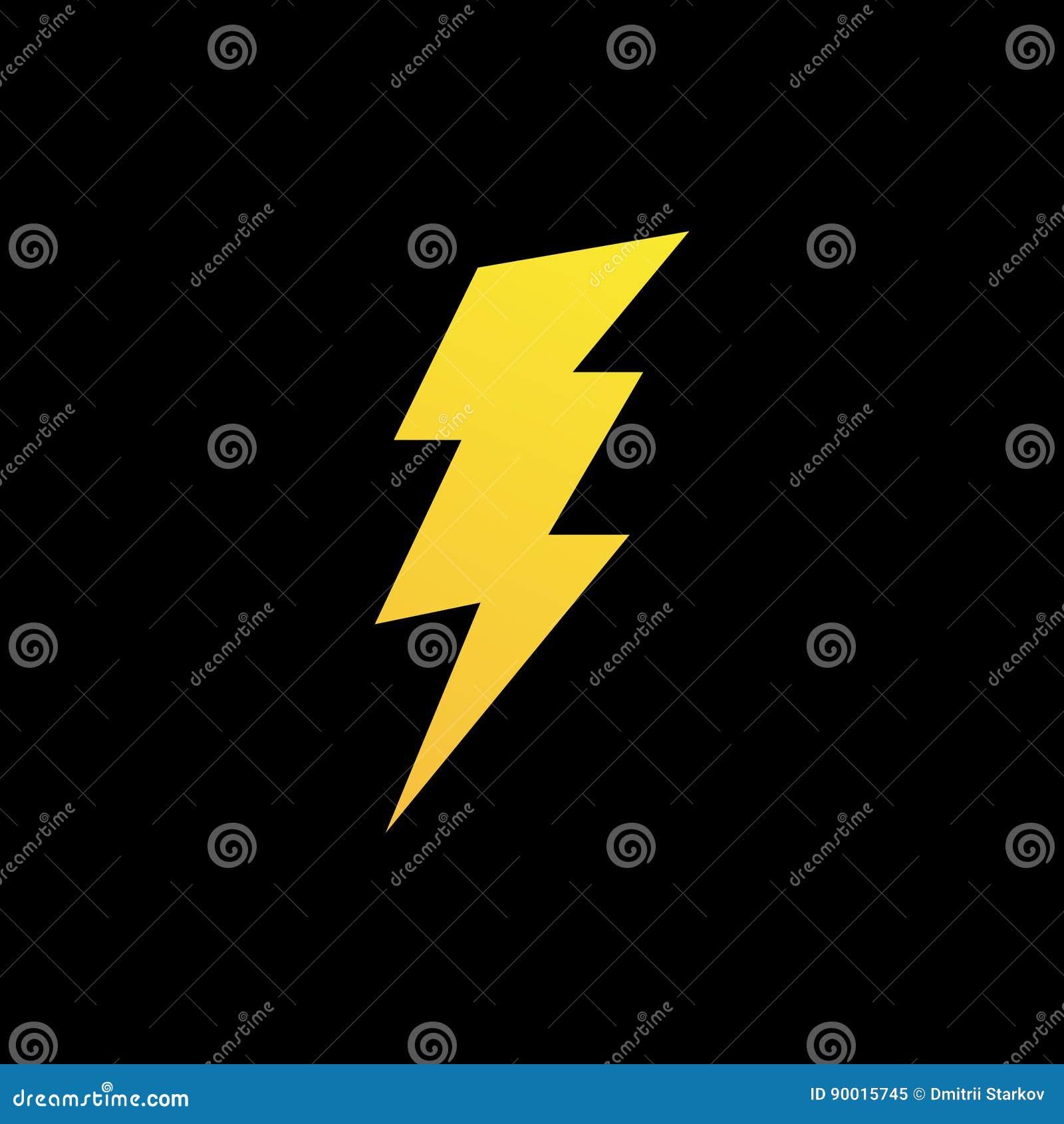Lightning Bolt Icon Or Logo In Modern Flat Style. Stock Vector ...
