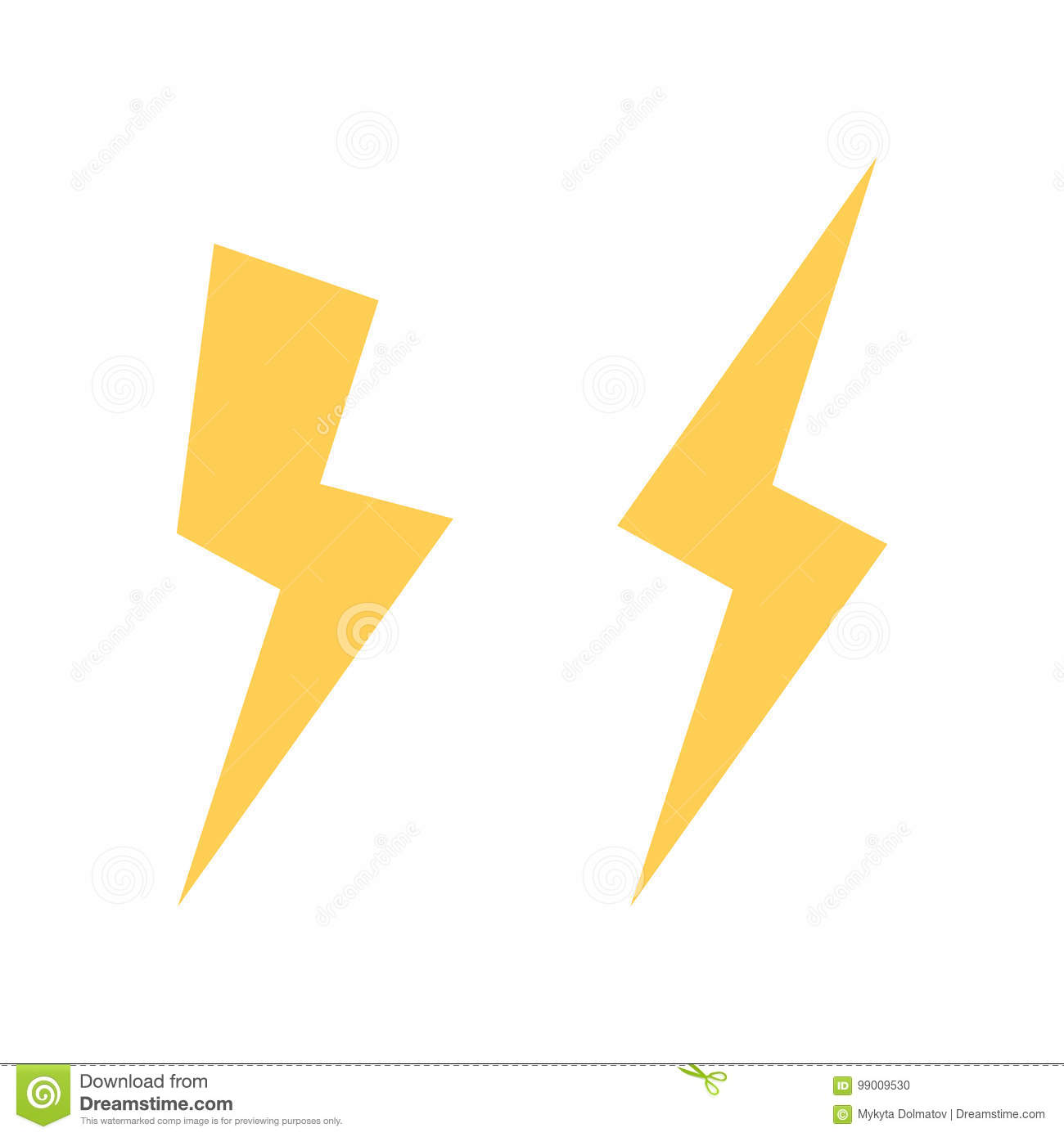 lightning bolt vector icon flash icon bolt of lightning