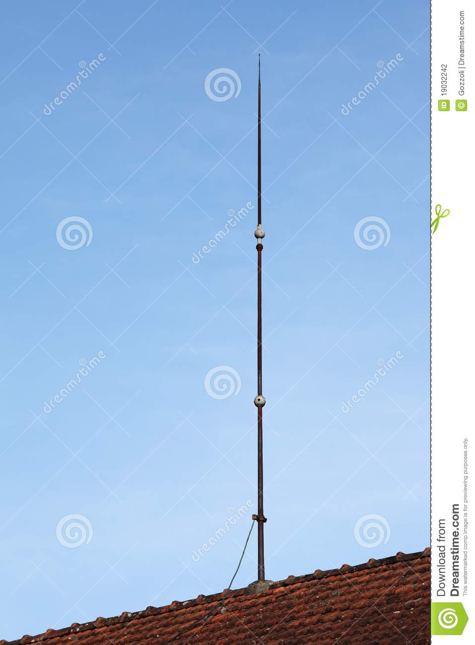 Lightning Conductor Rod Stock Photography