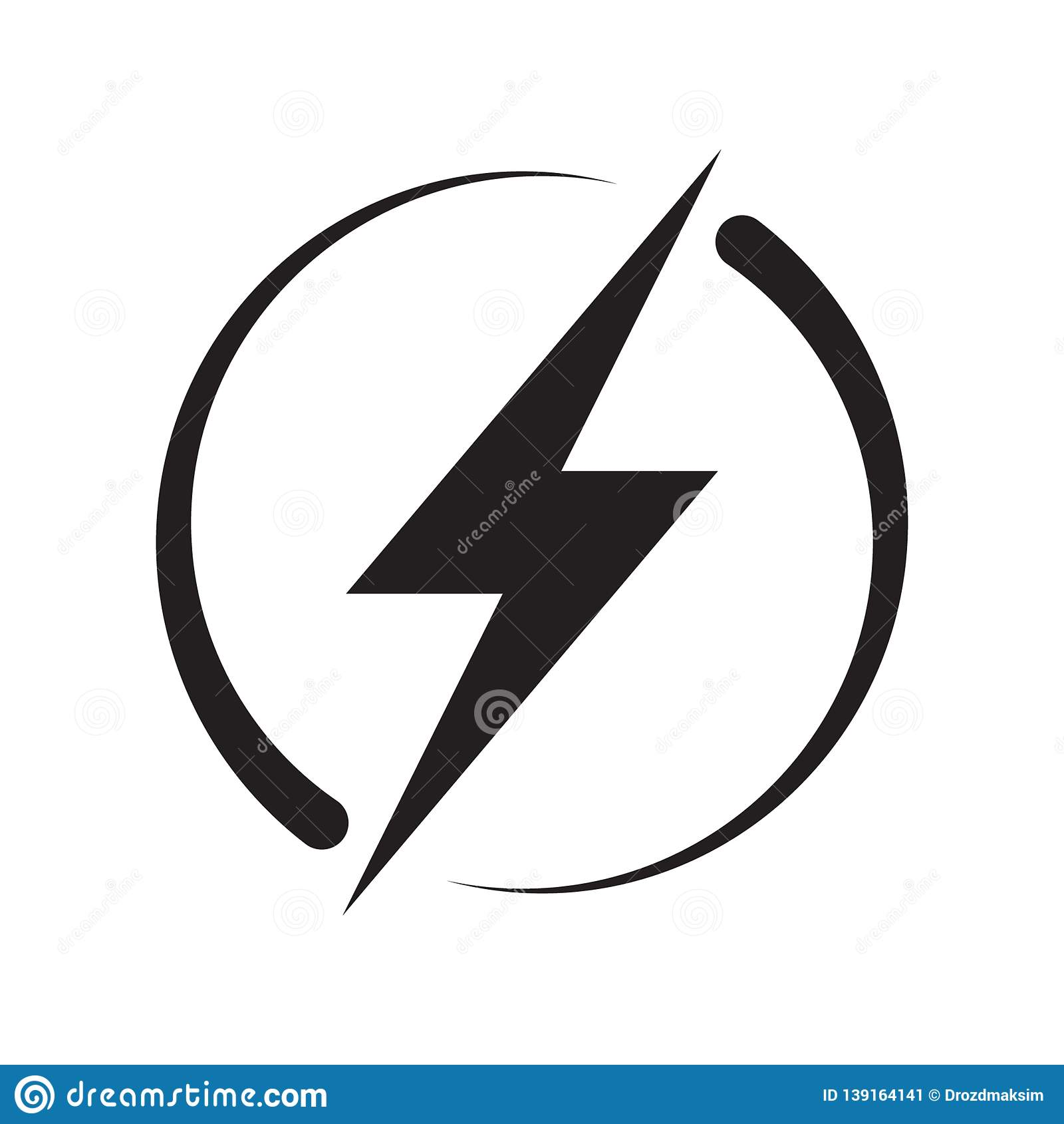 Lightning, Electric Power Vector Logo Design Element. Energy and ...