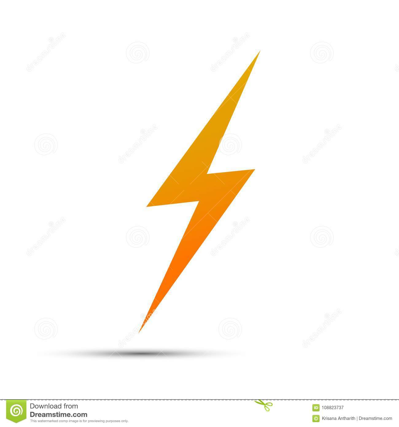 Lightning Flat Icons  Simple Icon Storm Or Thunder And Light