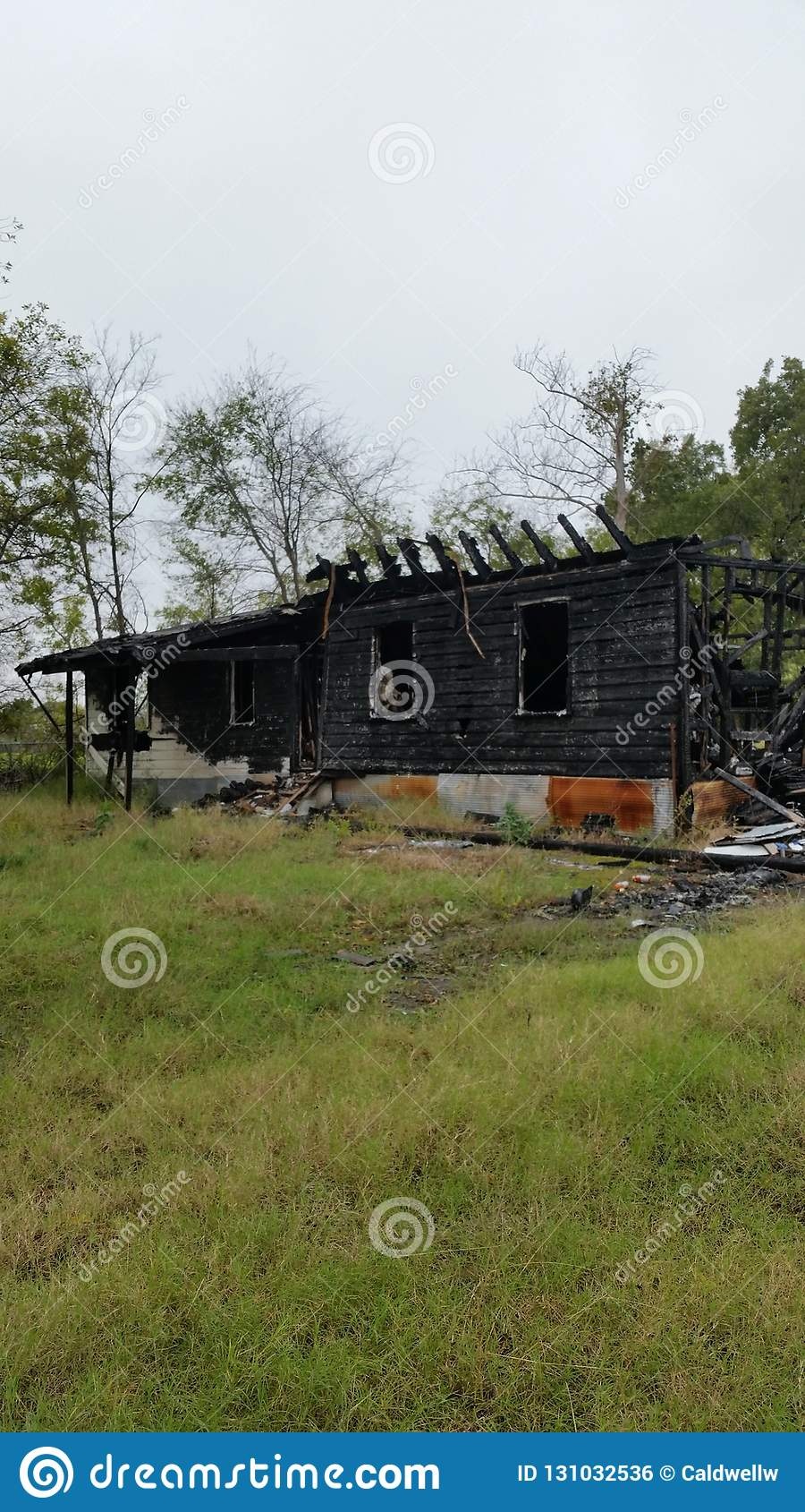 Lightning Hits And Burns House