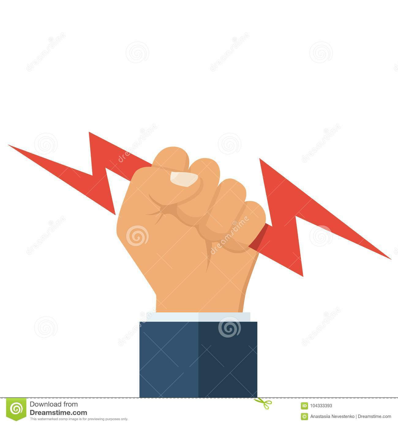 979a51eba4682 Lightning holding in hand stock vector. Illustration of electricity ...