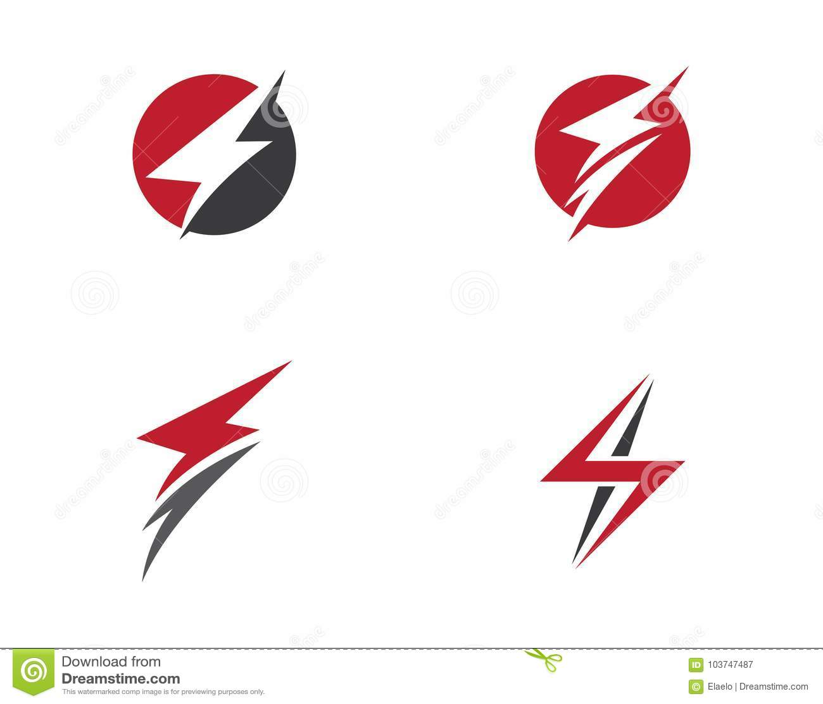 lightning logo template stock vector illustration of electronic