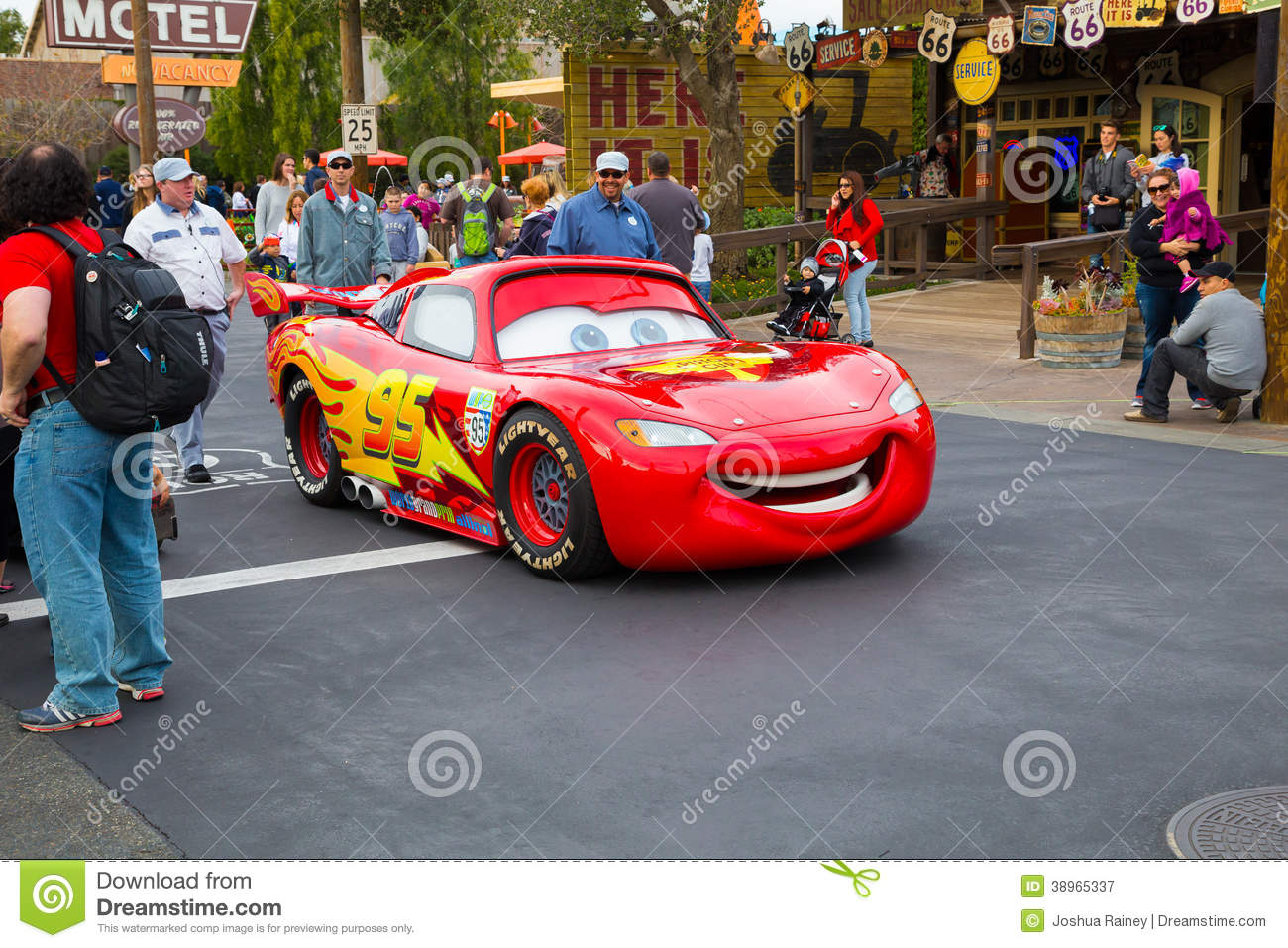 Lightning Mcqueen In Cars Land Editorial Photography