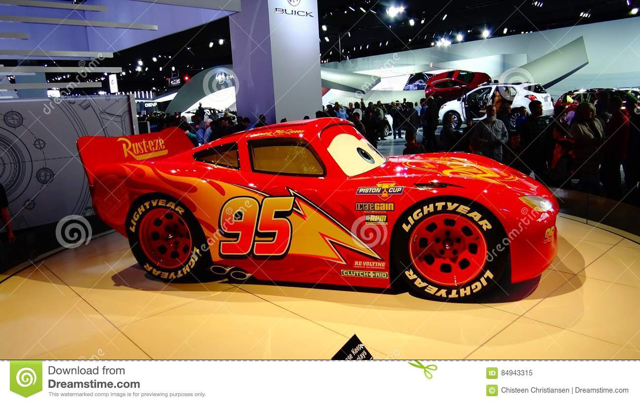 Lightning Mcqueen Cars 3 At The Naias Editorial Image Image Of