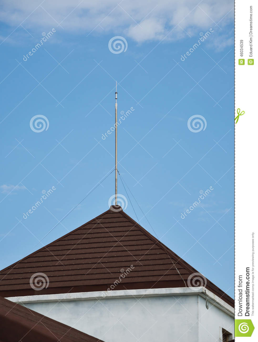 Lightning Rod On The Roof Stock Image Image Of Protect
