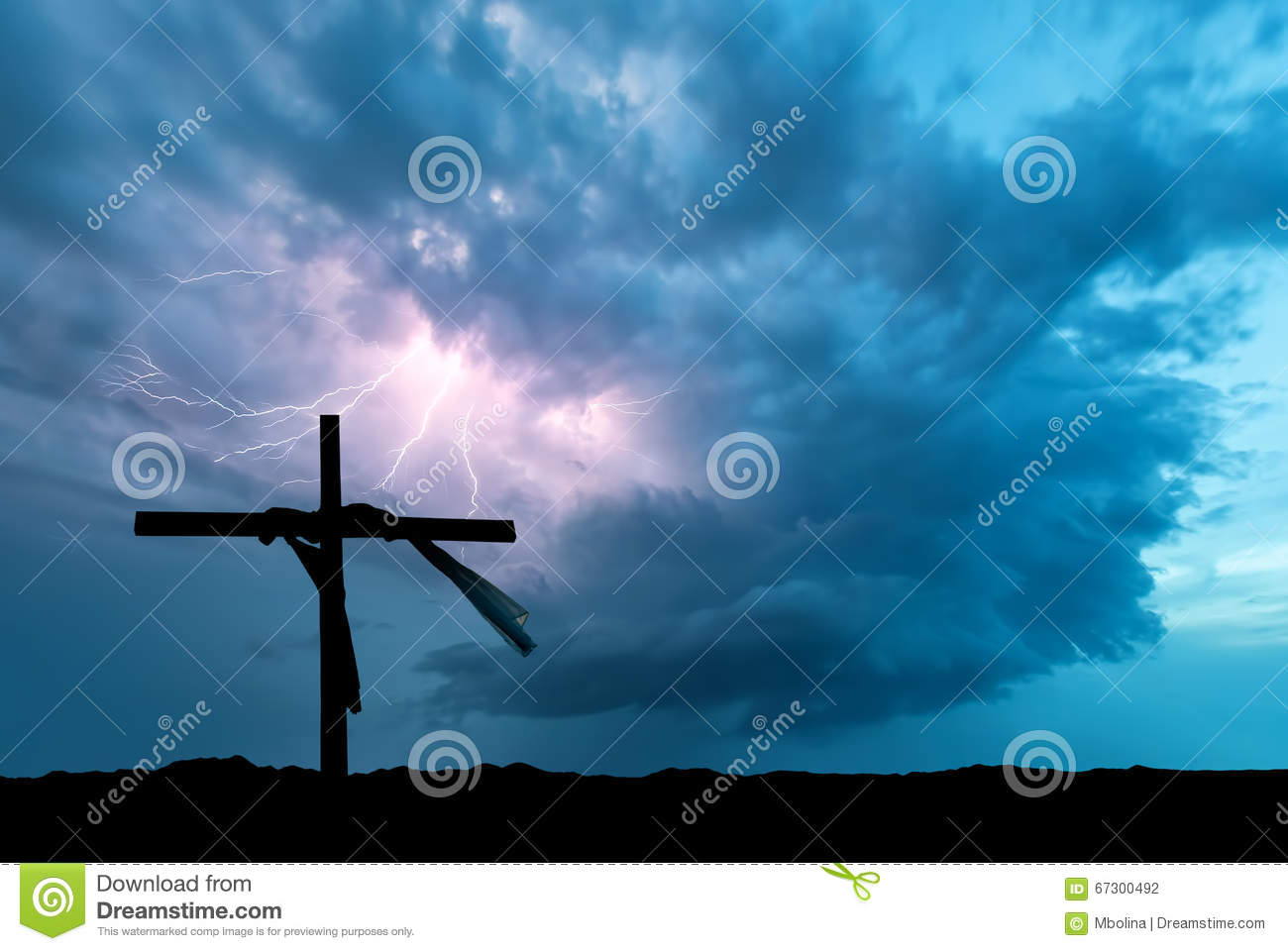 Lightning Storm and the Cross