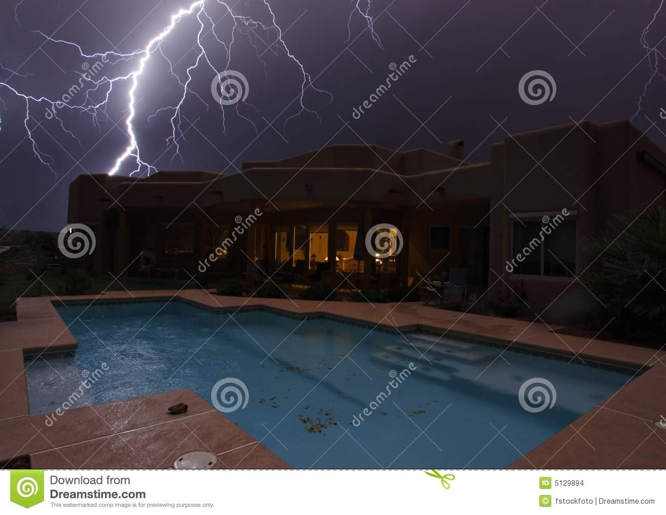Lightning Strike Stock Images Image 5129894