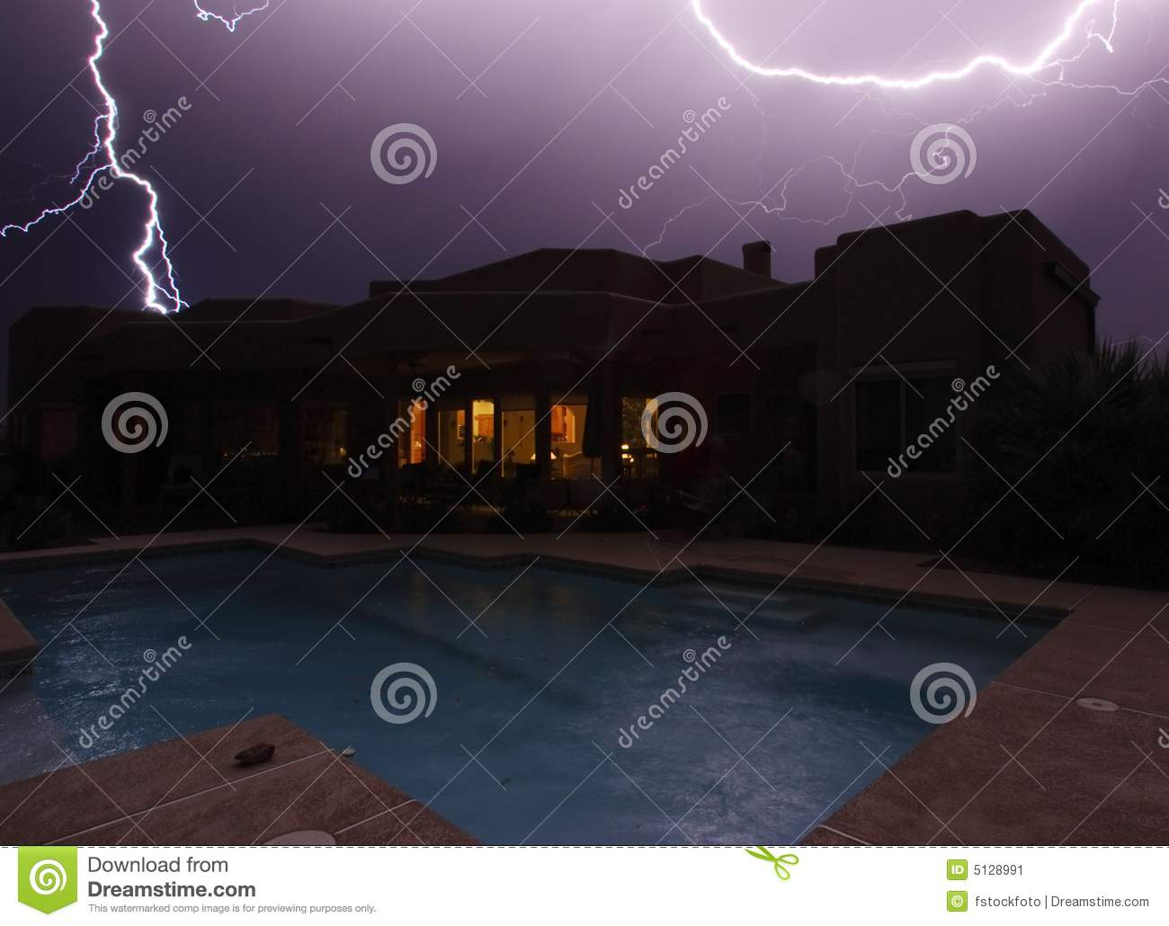 Lightning Strikes Stock Image Image 5128991